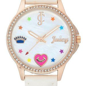 Juicy Couture Black Label Rose Gld/White Watch NEW